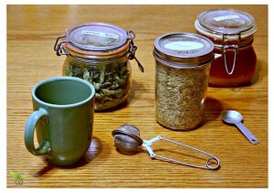 Lemon Balm Oat Straw Tea Recipe (ease stress and anxieties) - Scratch Mommy