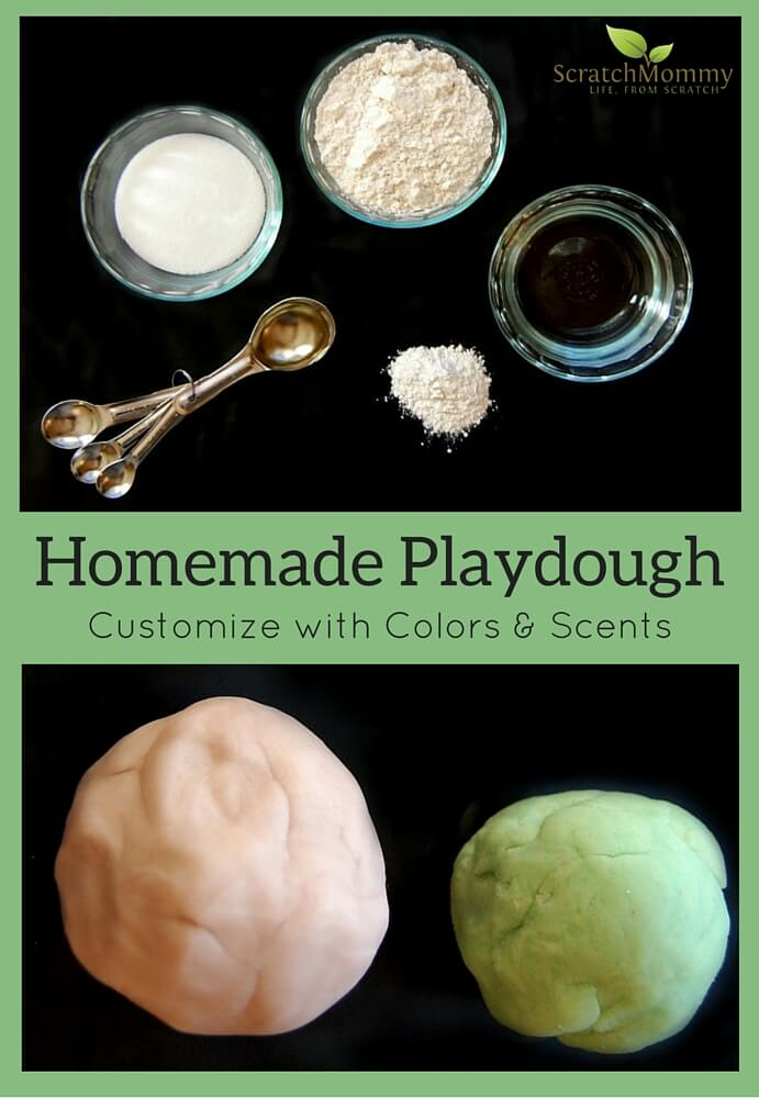 Homemade Playdough (learn how to easily customize your own DIY playdough with natural colors and scents!) - Scratch Mommy