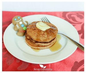 Light, Fluffy Whole Wheat Gingerbread Pancakes (perfect year round and especially for the holidays!) - Scratch Mommy