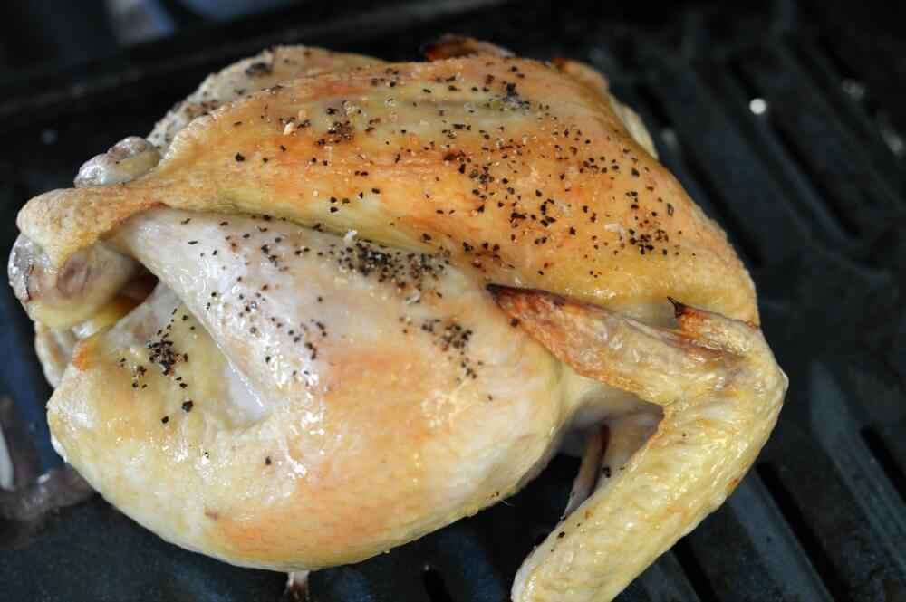 Look at this beautiful whole chicken (cooked in less than 30 minutes!). Learn how on ScratchMommy.com
