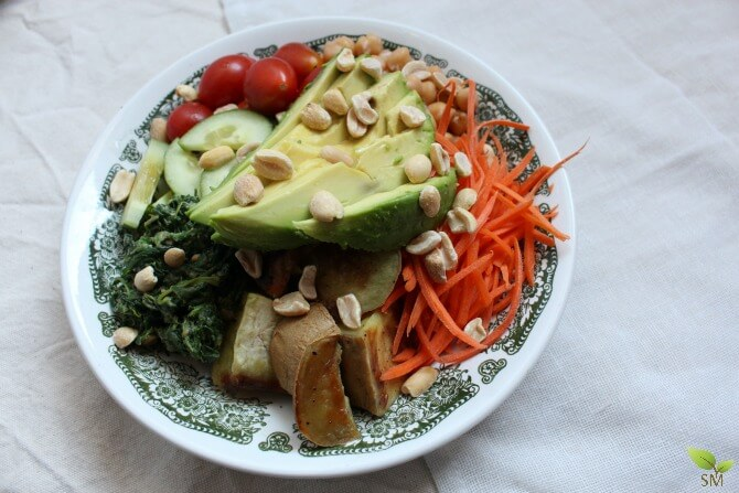 Vegetarian Power Bowl (layered with colorful vitamins!)