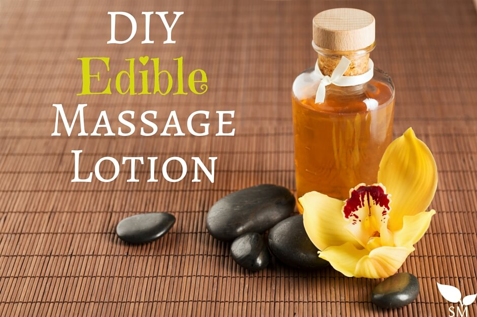 DIY Edible Massage Lotion Recipe- Find the recipe on Scratch Mommy