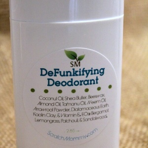 DeFunkifying Deodorant Stick- by Scratch Mommy