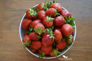 Strawberries are high in Vitamin C, which is fantastic for your skin! Learn how to eat your way to healthy skin- Scratch Mommy