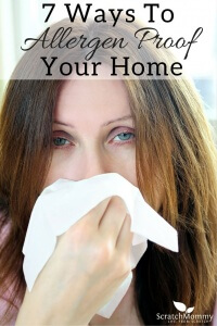 Indoor air quality is so important. Learn 7 Ways To Allergen Proof Your Home!- Scratch Mommy