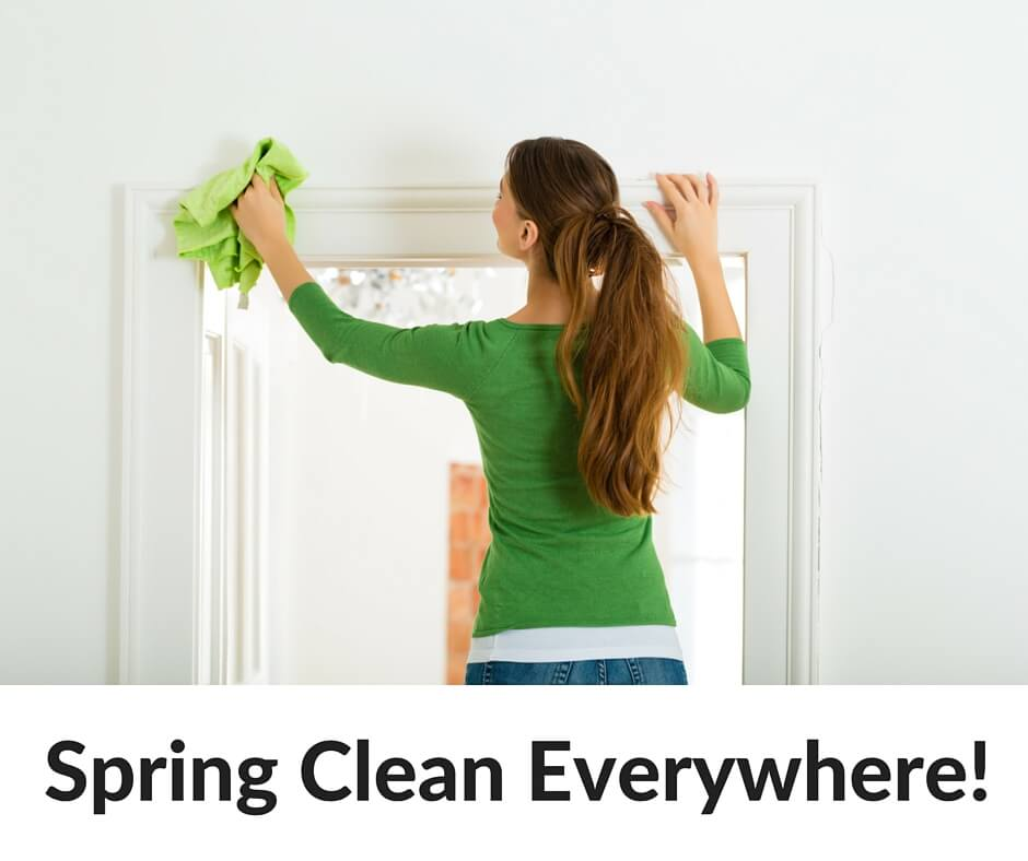 Spring Clean Everywhere! Grab our favorite 20+ DIY non-toxic cleaning recipes PLUS our free spring cleaning checklist!- Scratch Mommy-2
