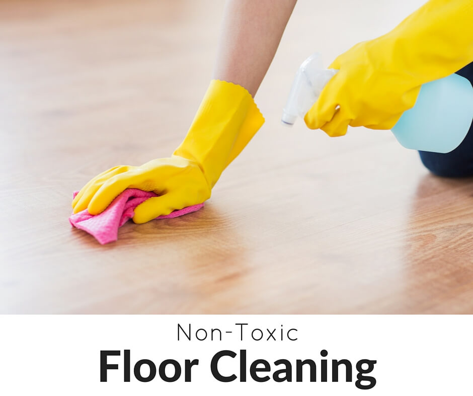 Spring cleaning involves the floors, but come learn how to do it non-toxically! Grab 20+ DIY spring cleaning recipes AND our free spring cleaning checklist!- Scratch Mommy