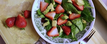 Strawberry Avocado Salad with Poppyseed Dressing