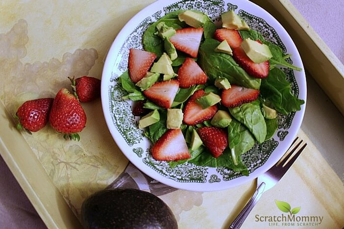 Strawberry Avocado Salad with Poppyseed Dressing