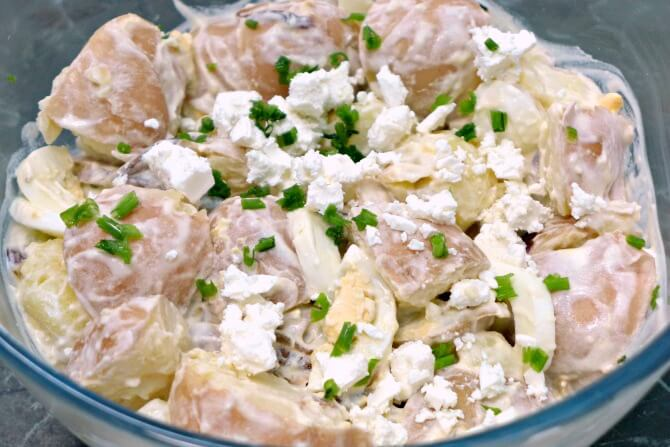 Homemade-Red-Potato-Salad-Recipe (homemade dressing, too!)- Scratch Mommy