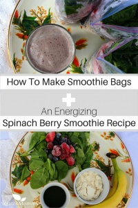 Come learn how to make smoothie bags and grab our favorite smoothie recipes (including our new energizing spinach berry smoothie recipe)!- Scratch Mommy