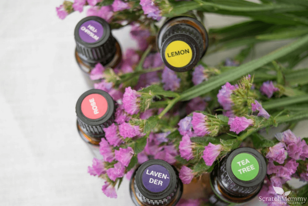 From cleaning to aromatherapy to headache relief essential oils can prove quite helpful. Discover our top 5 must haves for your essential oil starter kit!- Scratch Mommy
