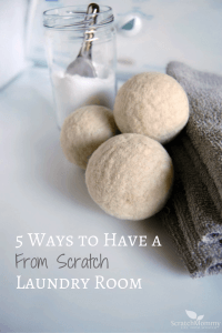 Don't be intimidated by a from scratch laundry room. Let us make it easy! Grab our 5 fav non-toxic DIY tips here!- Scratch Mommy