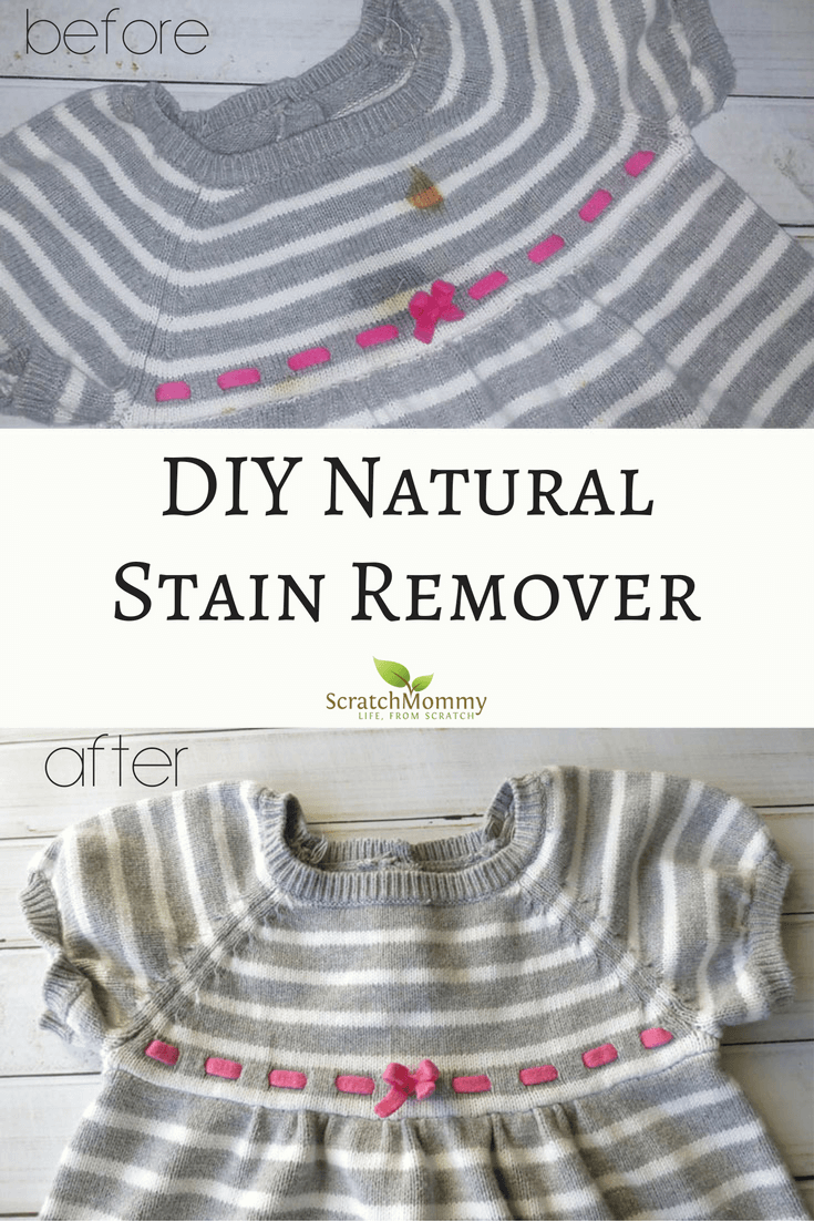 DIY Natural Stain Remover Recipe (effective, easy, non-toxic stain removal)- Scratch Mommy