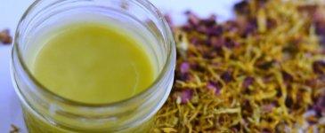 Herbal Dry Skin Salve (with chamomile, calendula, & roses)