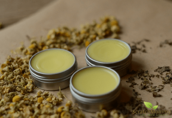 DIY Herbal Cold Sore Ointment (featuring chamomile & lemon balm)