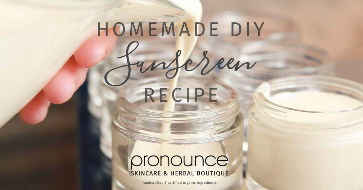Homemade DIY Sunscreen Recipe